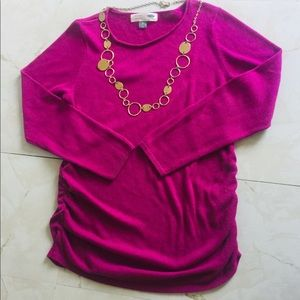 Old Navy Maternity XL Purple Long Sleeves Sweater